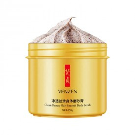 Скраб для тела с грецким орехом и маслом ши VENZEN Clean Beauty Skin Smooth Body Scrub (250 мл)