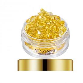 Cыворотка для кожи вокруг глаз капсульная с золотом Venzen Eye Essence Capsule