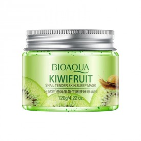 Нічна маска гелева з ківі і муцином равлика BIOAQUA Kiwifruit Snail Tender Skin Sleep Mask