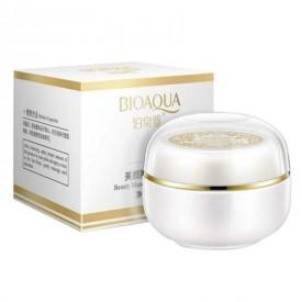 Нічний крем для вирівнювання тону обличчя з перловою пудрою BIOAQUA Whitening Cream Flawless Use Good Effect at Night 30 г