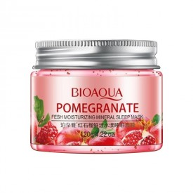 Ночная маска с экстрактом граната BIOAQUA Pomegranate Fresh Moinsturizing Mineral Sleep Mask