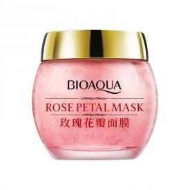 Маска Bioaqua Rose Petal Мask ночная увлажняющая для лица с лепестками роз
