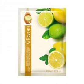 Маска тканевая с лимоном BIOAQUA Lemon Nourishing Mask