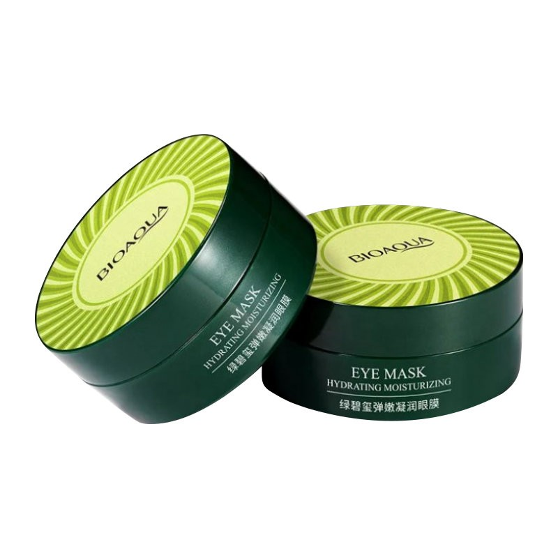 Патчи гидрогелевые для глаз с водорослями и зеленым турмалином Bioaqua Hydrating Moinsturizing